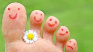 Fußschäden behandeln
